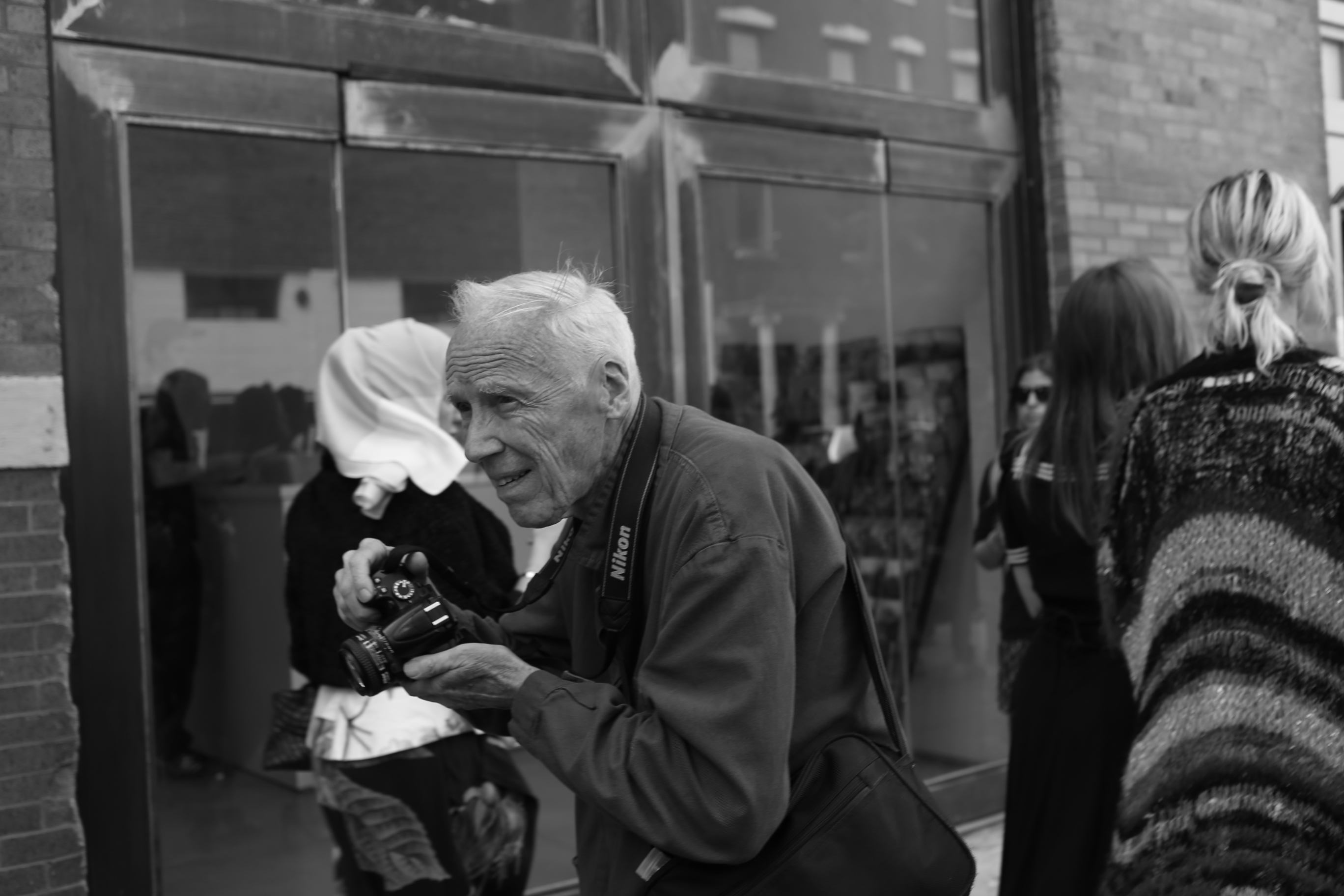 Bill Cunningham shot by Bil Brown