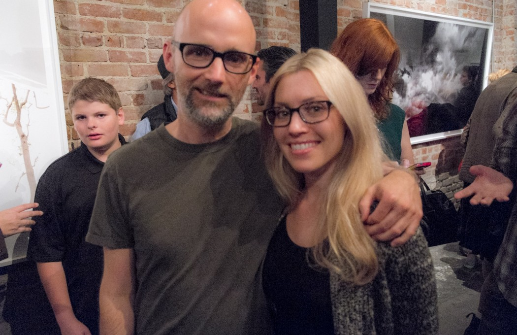 The artist Moby and our friend, designer Camille Cothron.